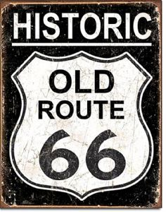 Historic Old Route 66 Metal Sign    (de)
